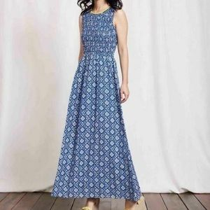 Boden | 'Terese' Maxi Cotton Blue & White Dress